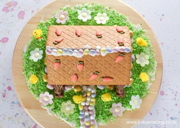 How to make an Easter gingerbread house - fun Easter food for kids from Eats Amazing UK
