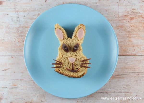 Peter Rabbit sandwich - fun food tutorial with video from Eats Amazing