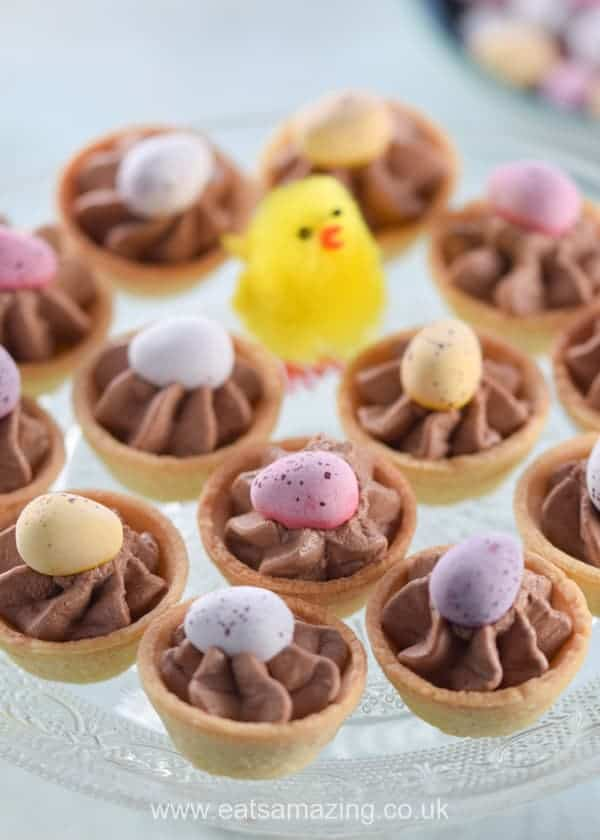 Quick and easy mini egg chocolate cheesecake bites recipe - fun and easy kid friendly Easter dessert - Eats Amazing UK