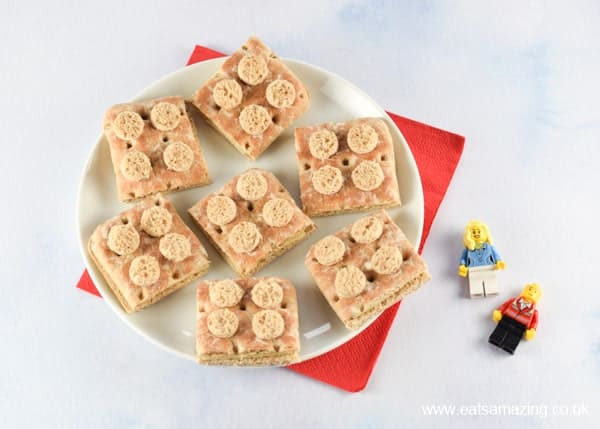 Easy Lego sandwiches fun food tutorial - perfect for healthy party food for kids - Eats Amazing UK