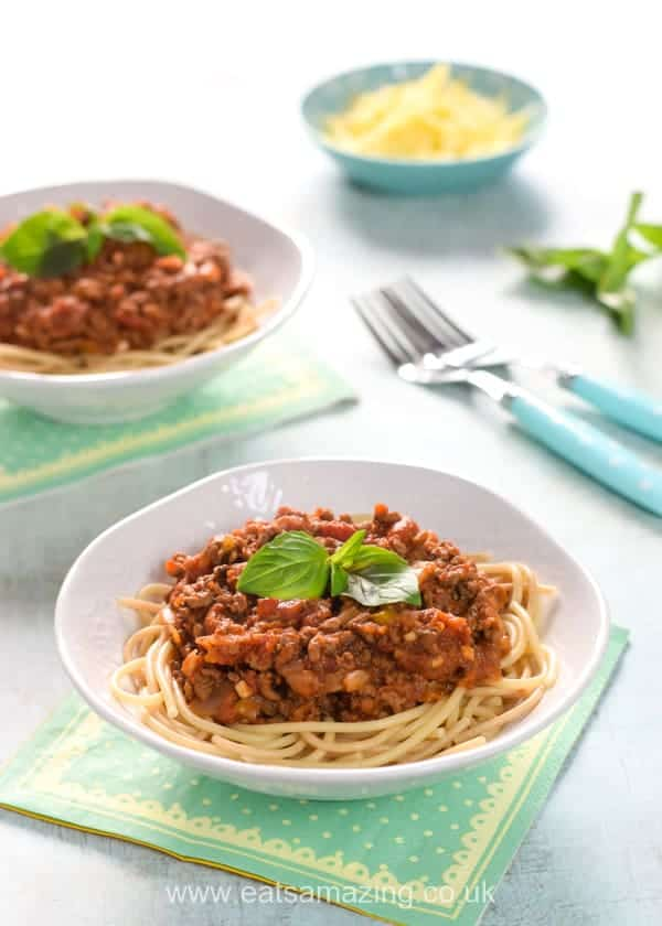 Family Friendly Slow Cooker Bolognese with Hidden Vegetables Recipe - easy meal kids will love from Eats Amazing UK