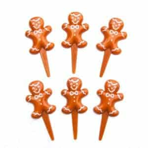 Gingerbread Man Cupcake Picks from the Eats Amazing UK Stock - perfect for Christmas