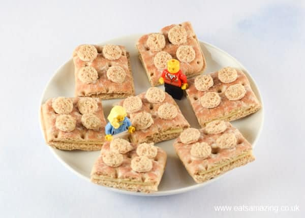 How to make Lego sandwiches - perfect for healthy birthday party food for kids - Eats Amazing UK