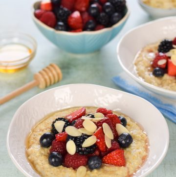 Easy Porridge Recipe with Summer Berries Topping