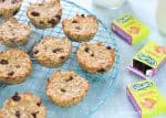 Banana oat cookie bites recipe with coconut and raisins - easy recipe for kids that is great for using up bananas