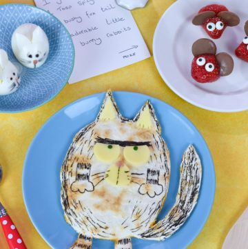 Billy and the Beast book themed fun food for kids - how to make a FatCat quesadilla