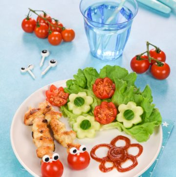 Fun Meal for Kids: Caterpillar Mini Chicken Kebabs
