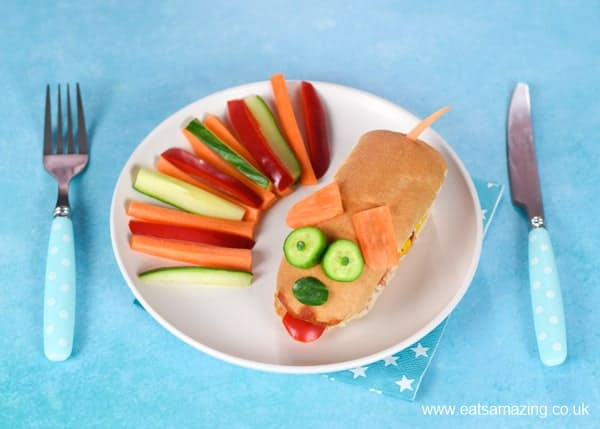 Easy doggy hot dog - kids will love this fun meal idea thats perfect for party food too