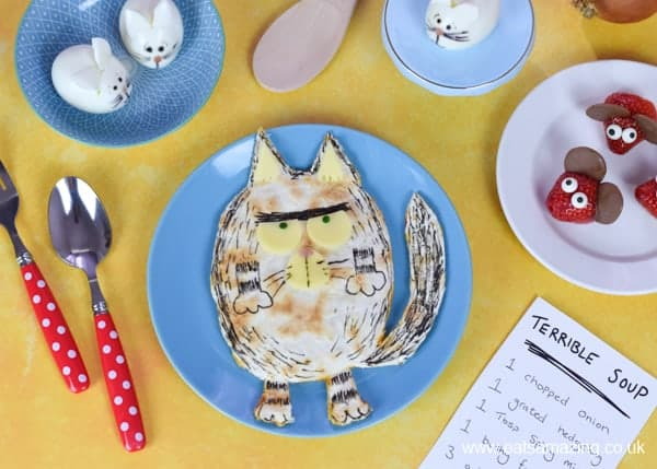 Fun book themed food inspired by the new picture book Billy and the Beast
