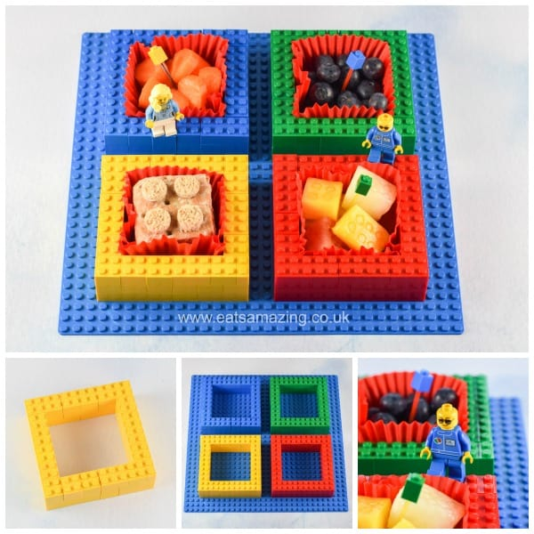 Fun food tutorial - how to make a Lego snack plate for kids - Eats Amazing UK