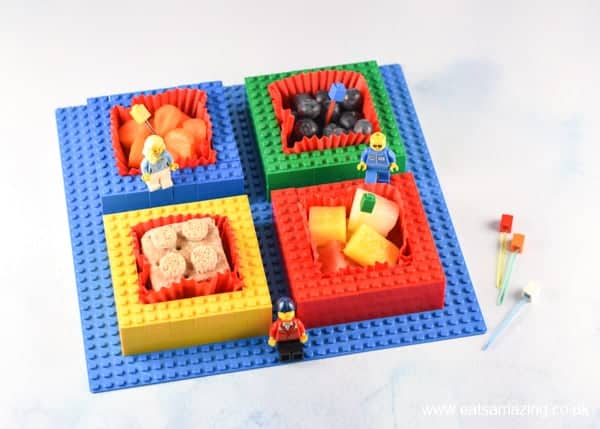 Fun food tutorial - how to make a kids snack plate from Lego