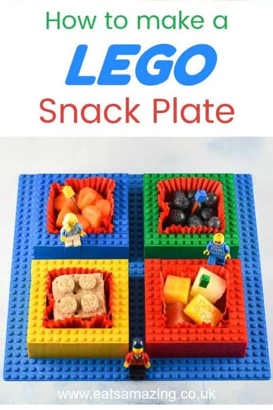 How to make a Lego snack plate - healthy fun food for kids #lego #funfood #kidsfood #kidsactivities  #foodart #partyfood #snacks #kidsnack #playingwithfood #playwithyourfood #foodcraft #snacktime