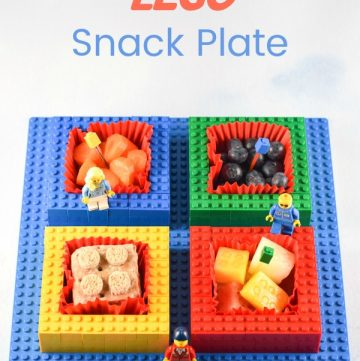 How to make a simple Lego snack plate - kids will love this Lego themed fun food idea