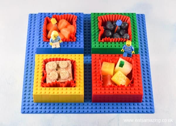 Make your own Lego snack plate for kids - great fun food idea for a party or fun project for serving up snacks at home