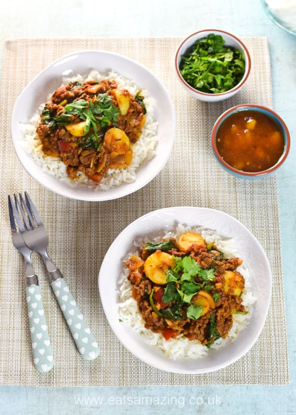Save money and use up your leftovers with this easy bolognese curry recipe - perfect for a family meal and meal planning