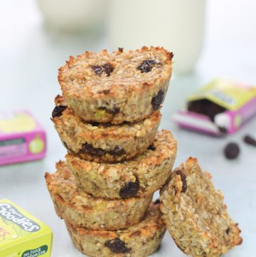 Coconut & Raisin Banana Oat Cookie Bites Recipe