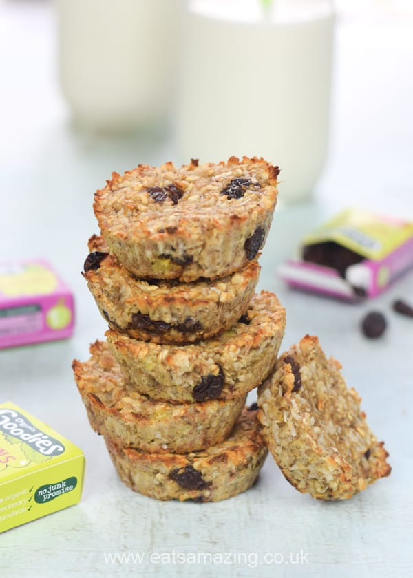These easy coconut and raisin banana oat cookie bites are the perfect recipe for using up leftover bananas - vegan sugar free gluten free and nut free