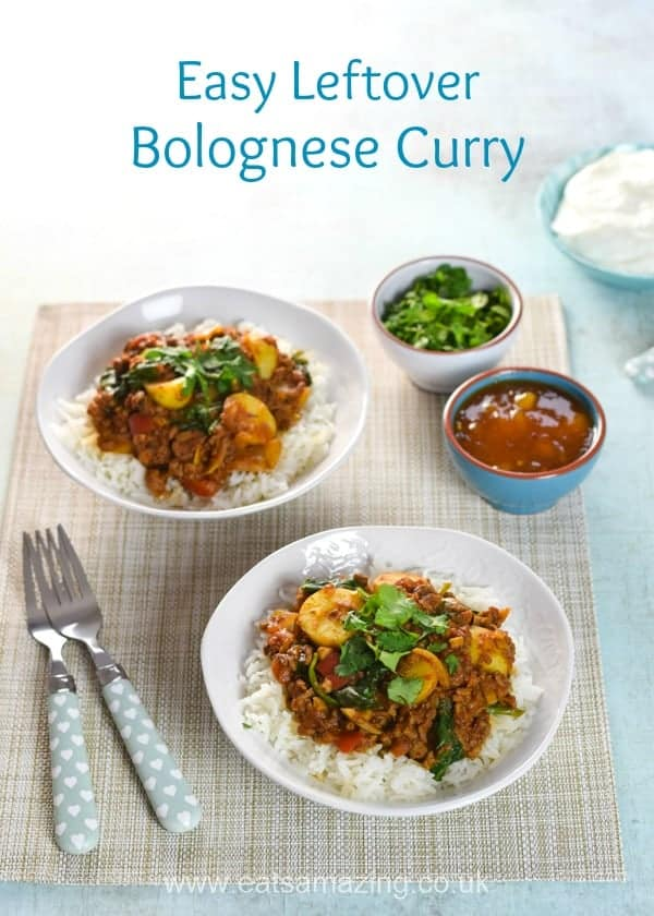 Use up bolognese sauce to make this delicious easy curry - great leftovers recipe the whole family will love