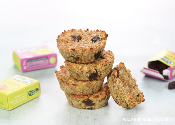 Use up leftover bananas with these yummy coconut and raisin banana oat cookie bites - no flour sugar or eggs