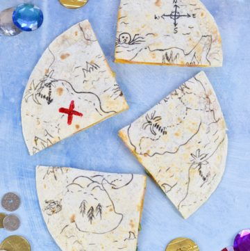 Fun Edible Pirate Map Quesadillas Recipe