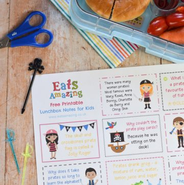 Fun Pirate Themed Lunchbox Notes for Kids