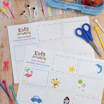Free Printable Blank Lunchbox Notes for Kids