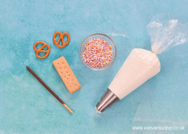 Fun Party Dessert idea - how to make shortbread butterfly biscuits step 1 - gather ingredients
