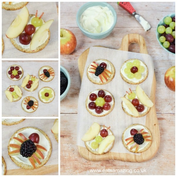 Fun and easy fruity bug oat cakes for kids - fun snack idea from Eats Amazing UK