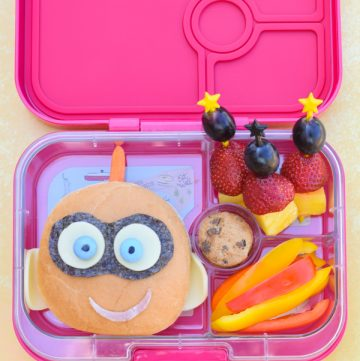 Incredibles 2 Bento Lunch with Jack-Jack Sandwich