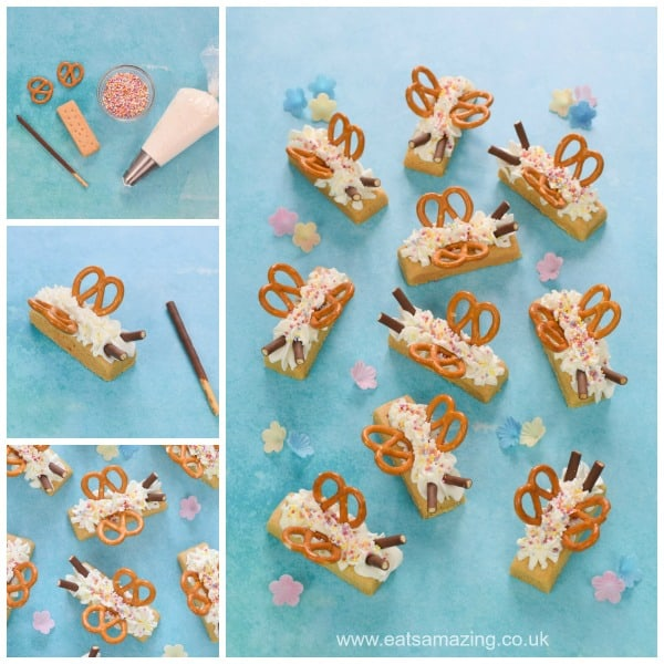 How to make cute shortbread butterflies fun food tutorial - really quick and easy party food idea that kids will love