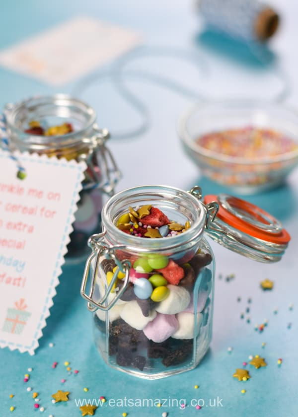 Quick and easy birthday sprinkle mix recipe - kids will love this special birthday breakfast idea