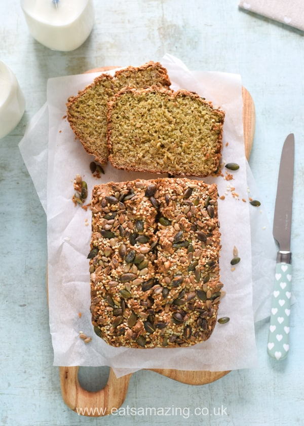 Quick and easy healthy breakfast idea for kids - this homemade gluten free porridge bread recipe is no-knead and has no flour or yeast