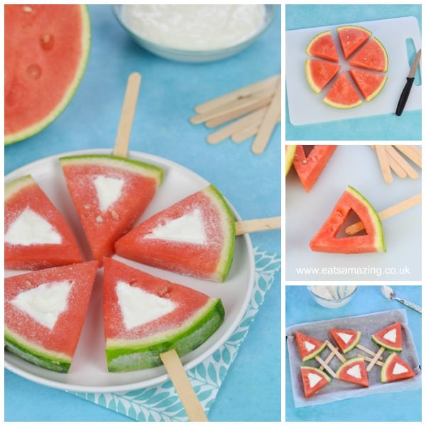 Easy frozen watermelon yogurt pops recipe for kids - Eats Amazing UK