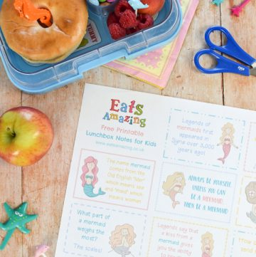 Free Mermaid Themed Lunchbox Notes for Kids