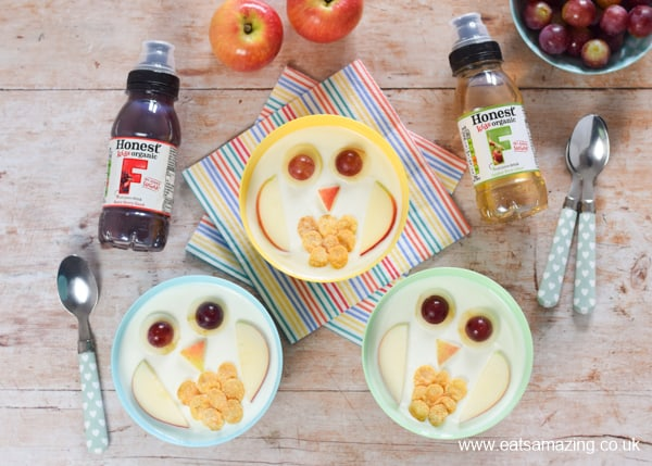 Fun food tutorial for kids - cute owl yogurt bowls that are perfect for healthy breakfast snacks and desserts