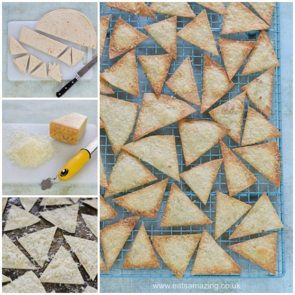 How to make cheese baked tortilla chips with Grana Padano - easy recipe for kids from Eats Amazing UK