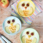 How to make cute owl yogurt bowls for a healthy breakfast snack or dessert for kids - fun and easy recipe with step by step photos