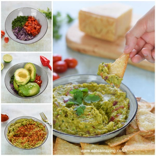 How to make homemade kid-friendly guacamole - quick and easy recipe for kids from Eats Amazing UK