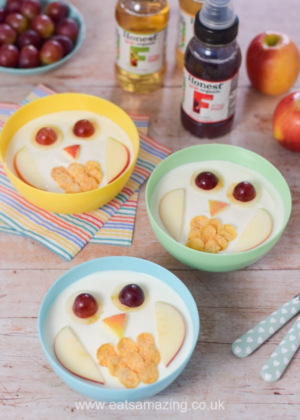 How to make owl yogurt bowls fun food tutorial - cute and healthy food art breakfast snack or dessert idea for kids