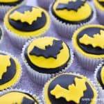 Easy Batman Cupcakes recipe - with full instructions for making and decorating with fondant icing