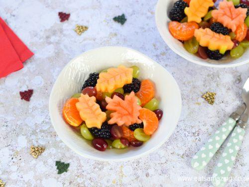 Autumn Fruit Salad Recipe With Edible Autumn Leaves Eats Amazing