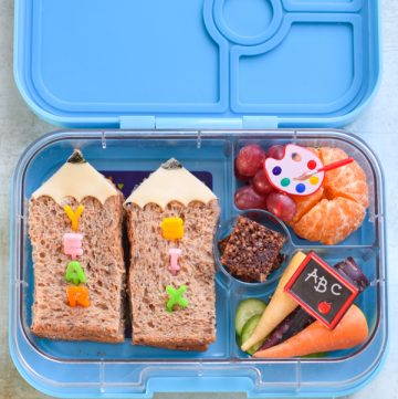 Back to School Lunch with Pencil Sandwiches