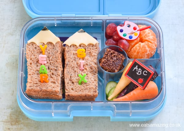 How to make fun pencil sandwiches for a special back to school lunch idea for kids