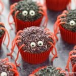 Cute and easy spider cupcakes recipe - fun Halloween food for kids
