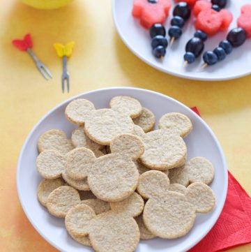 Easy cheese oatcake recipe with Disney - fun and healthy mickey mouse themed recipe for kids