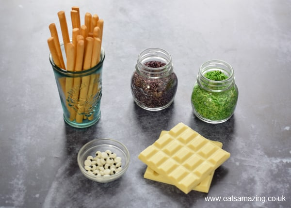 Edible Monster Breadstick Wands recipe - Ingredients needed