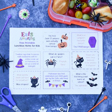 FREE Halloween themed lunchbox notes for kids - pop over to the post to print off your copy