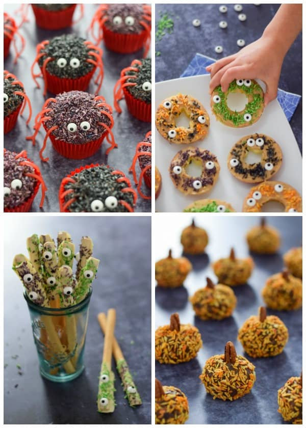 Fun Halloween recipes for kids made using homemade Halloween sprinkles - check them all out here