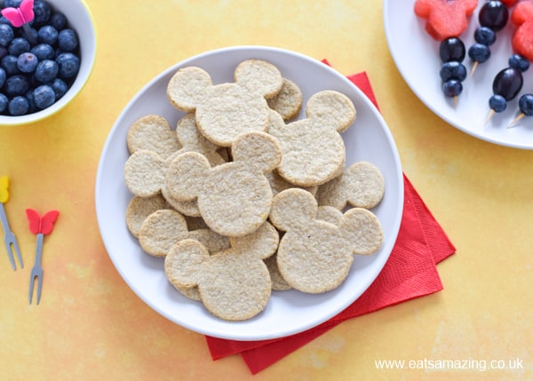 How to make cute Mickey Mouse shaped cheese oatcakes - fun and easy recipe for kids