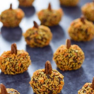 Pumpkin spice energy bites recipe - fun and healthy autumn snack for kids